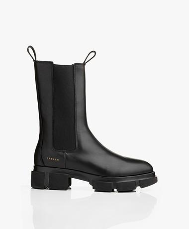 Copenhagen Hoge Leren Chelsea Boots - Zwart