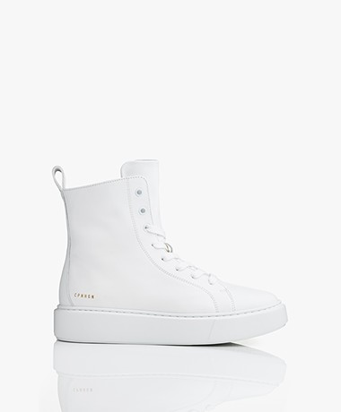Copenhagen Leather High-top Sneaker Boots - White