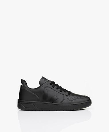 VEJA V-10 Leren Sneakers - Zwart