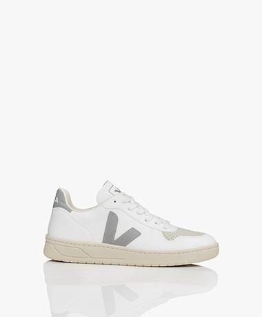 VEJA V-10 Leren Sneakers - Wit/Grijs