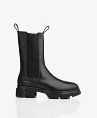 Copenhagen High Leather Chelsea Boots - Black
