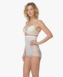 SPANX® Spotlight on Lace High-Waisted Brief - Clean White