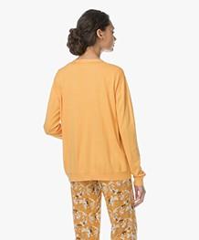 Marie Sixtine Alix Cotton Blend V-neck Cardigan - Golden