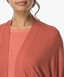 no man's land Open Vest in Viscose Jersey - Tuscan Red
