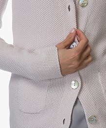 Belluna Fresco Pique Knitted Blazer - Rose