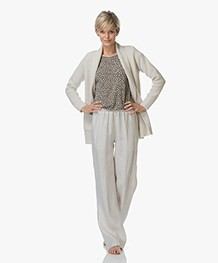 Sibin/Linnebjerg Mio Half Long Open Cardigan - Kit