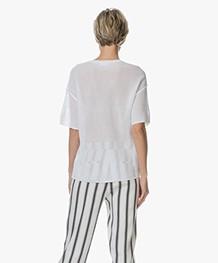 Drykorn Dea Ajour Gebreid T-shirt - Wit
