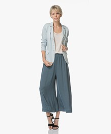 no man's land Garment-Dyed Jersey Blazer - Aquamarine
