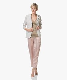no man's land Garment-Dyed Jersey Blazer - Sandstone