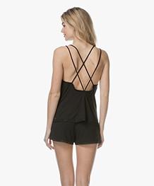 Calvin Klein Jersey and Mesh Camisole - Black