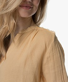Project AJ117 Milou Cotton Blend Blouse - Yellow
