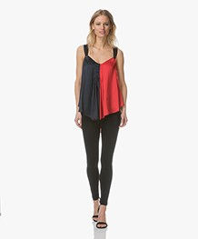 By Malene Birger Willyh Two-Tone Satijnen Top - Bright Red