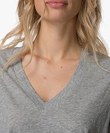 IRO Misley V-hals T-shirt - Steel Grey
