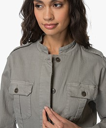 Repeat Cotton Millitary Jacket - Light Khaki
