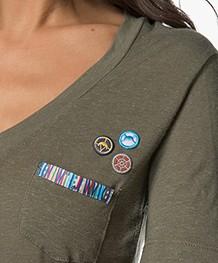 Denham Pilot Salute V-hals T-shirt - Artillery Green