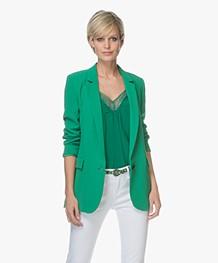 ba&sh Veste Crepe Blazer - Green