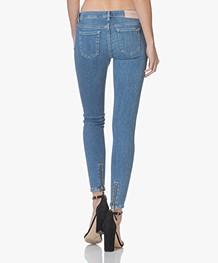 HUGO Gilljana Cropped Skinny Jeans - Gewassen Blauw