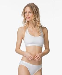Calvin Klein Modal Blend Jersey Bralette - White