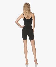 SPANX® OnCore Open-Bust Mid-Thigh Bodysuit - Zwart