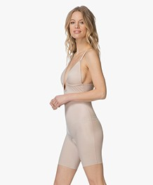 SPANX® Suit Your Fancy Mid-Thigh Bodysuit Plunge - Champagne Beige
