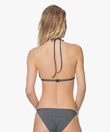 Filippa K Soft Sport Shiny Triangle Bikinitop - Pigeon