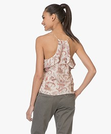 Magali Pascal Whisper Print Top met Volants - Nude Valence