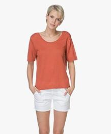American Vintage Flaxcity Linen T-shirt - Renard