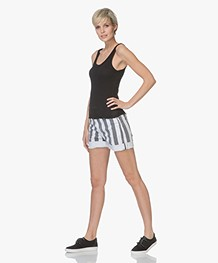 ANINE BING Karlie Modal Rib Jersey Tanktop - Zwart