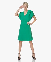 Ba&sh Siranda Dress with Frill Sleeves - Green