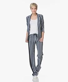 Drykorn Belsize Striped Blazer - Dark Blue/Off-white