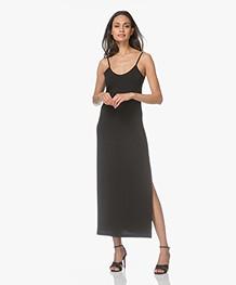 no man's land Maxi Dress in Crepe Jersey - Black