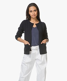 Sibin/Linnebjerg Lulu Short Cardigan - Navy