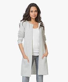 Sibin/Linnebjerg Mary Merino Blend Open Cardigan - Light Grey
