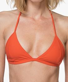 Filippa K Soft Sport Triangle Bikinitop - Pop Orange