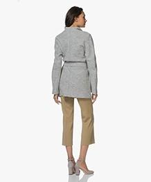 Filippa K Leia Belt Jacket - Light Grey