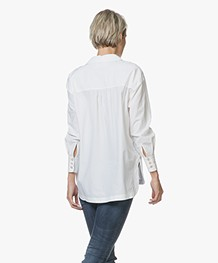 Ba&sh Conti Poplin Blouse - Wit