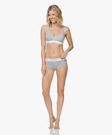 Calvin Klein Modern Cotton Padded Bralette - Heather Grey