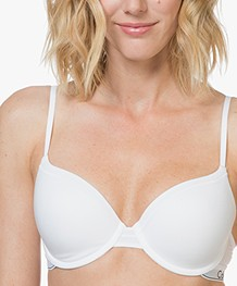 Calvin Klein Modern Cotton T-shirt Bra - White/Black