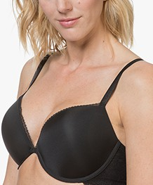 Calvin Klein Seductive Add-a-Cup Push-Up BH - Zwart