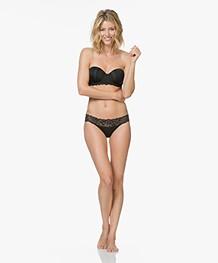 Calvin Klein Seductive Comfort Strapless BH - Zwart