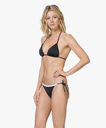 Calvin Klein Triangel Logo Bikinitop - Zwart