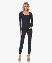 Drykorn Act Katoenmix Pantalon met Stretch - Donkerblauw