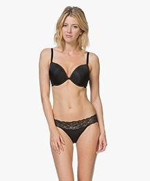 Calvin Klein Seductive Comfort Kanten Slip - Zwart