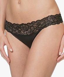 Calvin Klein Seductive Comfort Kanten String - Zwart
