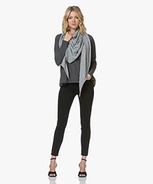Current/Elliott The High Waist Stiletto Skinny Jeans - Jet Zwart