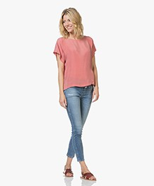 Drykorn Somia Cupro Blouse - Roze