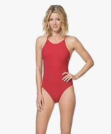 Filippa K Soft Sport Athletic-cut Swimsuit - Rouge