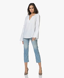 Ba&sh Romy Cropped Jeans - Light Used
