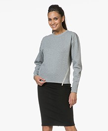 Rag & Bone Marlie French Terry Sweatshirt - Grijs Mêlee