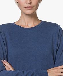 Sibin/Linnebjerg Juliette Sweater Dress with Optional Turtleneck Collar - Clear blue